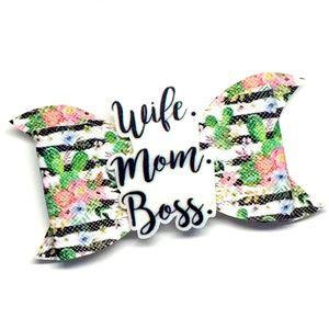 Wife Mom Boss Hair Bow